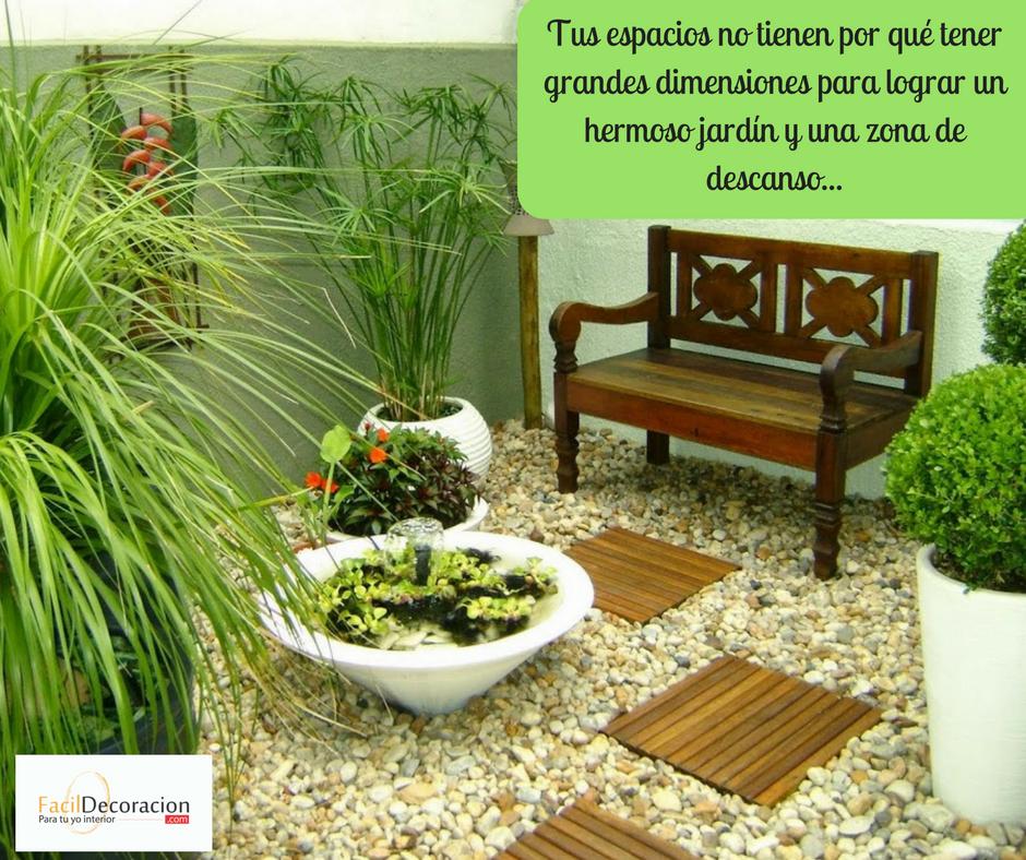 Tus espacios no tienen porqué tener grandes dimensiones para lograr un hermoso jardín