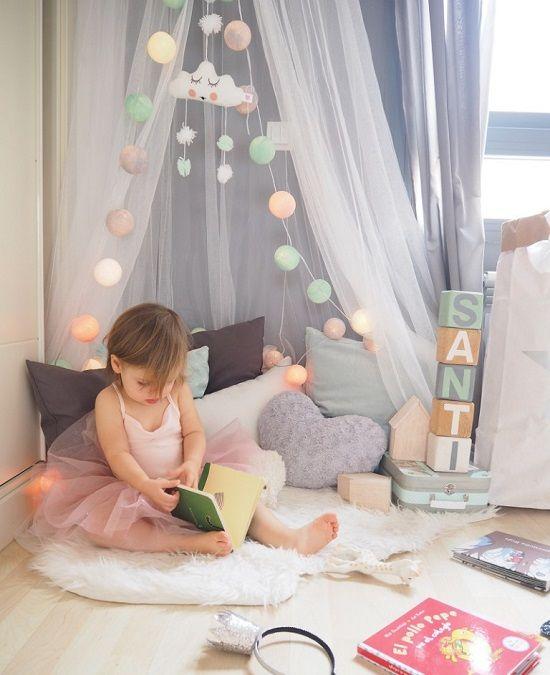 Textiles en el dormitorio infantil for Decoracion cuarto nina